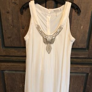 Cream dress w/ silver accent